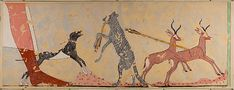 Description: Hunting Scene, Tomb of Ineni Medium: Tempera on paper Date: c. 1550-1470 BCE