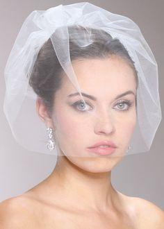 Mariell Handmade Tulle Birdcage Blusher Bridal Veil