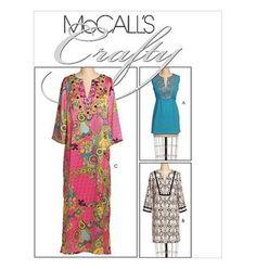 Sew-Make-McCalls-M5628-SEWING-PATTERN-Womens-Kurta-TUNICS-CAFTANS-MUUMUU-6-14