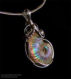 Ambers Ammonite Cute Jewelry, Beaded Jewelry, Vintage Jewelry, Handmade Jewelry, Wire Jewellery, Jewlery, Wire Crafts, Jewelry Crafts, Wire Jewelry Designs