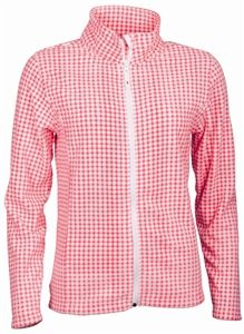 Abacus Golf Gear up for cool weather golf with the soft and cozy Abacus checkered fleece in knockout pink and white. You will wear this even when you are not teeing it up. Also available in black/white and gecko green/white check. Knockout pink