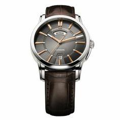 Maurice Lacroix Pontos Jour / Date - Automatique - Acier - Cadran Or Noir - 40 mm - 50 m ... #MauriceLacroix Swiss Watchmakers  #horlogerie @calibrelondon