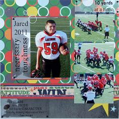 scrapbooking layouts | Football Scrapbook Page Idea Using Word Art and a Free Scrapbook Page ...