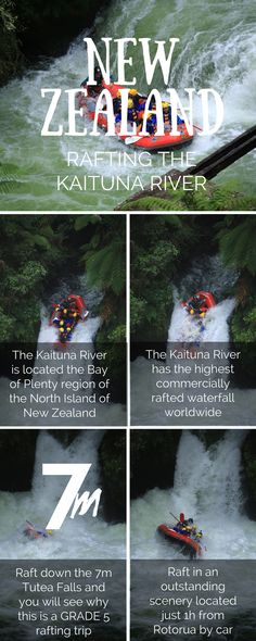 Rafting the Kaituna River in New Zealand