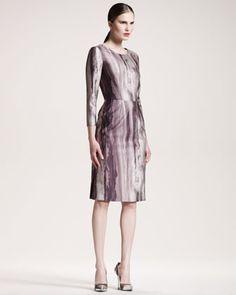 Printed Three-Quarter-Sleeve Dress by Philosophy di Alberta Ferretti at Neiman Marcus.  #NMfallTrends