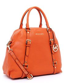 MICHAEL Michael Kors Bedford Extra-Large Bowling Satchel, Burnt Orange    Price: $448.00   from Michael Kors on Level 1