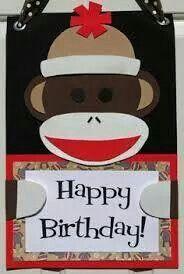 Sock monkey birthday