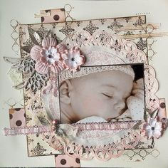 Sweetest of Dreams - Scrapbook.com ~ pages like this don't belong in a scrapbook - I would frame this!