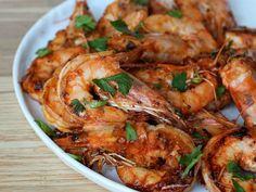 sriracha-shrimp ... How to get Mika to eat a shrimp!