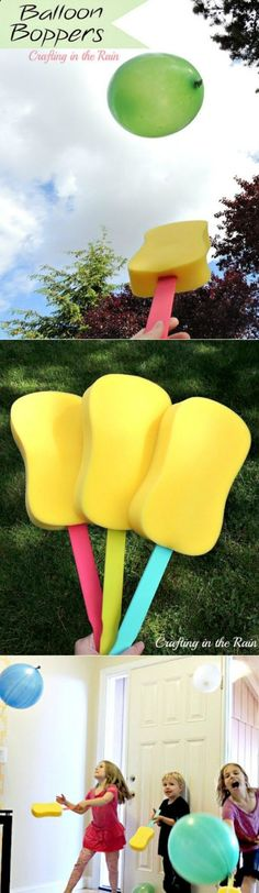 Balloon Boppers | DIY Craft | Games for Kids | Activities for Kids | Great for indoor or outdoor play | Click the photo for the instructions.