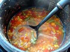 Healthy Family Cookin': Alphabet Soup {Electric Pressure Cooker Recipe}