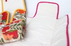 Cambiadores para bebés con el interior de tela impermeable.