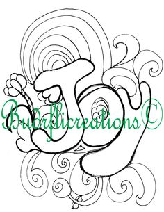 Joy Adult Coloring Page Fruits of the Spirit Instant Downloadable Print by Budrflicreations on Etsy