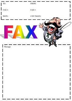 Businesses Can Use This Fax Template When The Details Of The