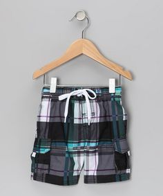 Take a look at this Black Getaway Swim Trunks - Infant, Toddler & Boys by Kanu Surf on #zulily today!