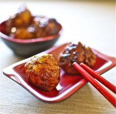 Albóndigas de pollo con salsa taré, receta japonesa con Thermomix