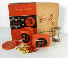 vintage Spill and Spell word game - Phillips Publishers - crossword game - 1957 - 10.00