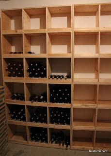 The Feral Turtle: Building Wine Storage