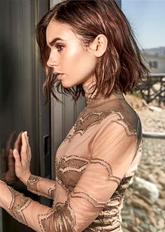 Lily Collins for Malibu Magazine December 2016