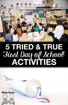 5 Tried and True Back to School First Day Activities - Wise Guys: Want to engage your students and start the new school year off strong? Here's our top five tried and true first day of school activities!
