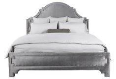 Bella Upholstered Bed, Taupe