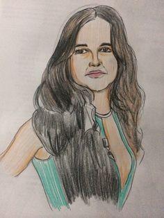 Dibujo a color de Micheel Rodríguez