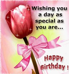 Free Animated Happy Birthday Greetings | Wishing you a day as special as you are. Happy Birthday!