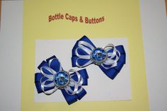 Indianapolis Colts Bottle Cap Hair Bow with a french barrette   $7.50