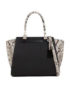 59edce517f1 Aldo purse snakeskin purse Black matte with snakeskin sides and handle ALDO  Bags Satchels