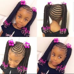 African Baby Hairstyles, Lil Girl Hairstyles Braids, Black Baby Hairstyles, Toddler Braided Hairstyles, Girls Natural Hairstyles, Girl Haircuts, Natural Hair Styles, Weave Ponytail Hairstyles, Little Girl Braids