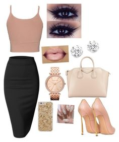 """""""Untitled #60"""" by michboo ❤ liked on Polyvore featuring Doublju, Jonathan Simkhai, Givenchy, Kenneth Jay Lane, Michael Kors, Casadei and Case-Mate"""