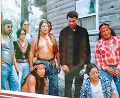 Muhammad Ali with the American Indian Movement during The Longest Walk, '78