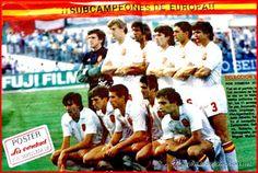 EQUIPOS DE FÚTBOL: SELECCIÓN DE ESPAÑA contra Portugal 17/06/1984