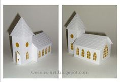 DIY Paper Church   with studio.file and svg.file  Could be used for a wedding.