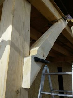 Timber Frame Homes, Timber House, Woodworking Joints, Woodworking Projects, Timber Structure, Wood Joints, Rustic Home Design, Post And Beam, Joinery
