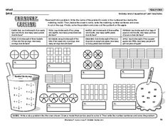 Dividing whole numbers by unit fractions Dividing Fractions, Math Fractions, Elementary Math, Upper Elementary, Math Classroom, Classroom Ideas, Grade 6 Math, Math Intervention, Kitchens