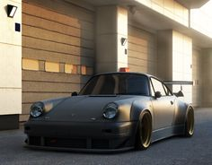 Matte Black, Wide-body Porsche