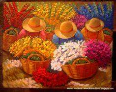 laborando en ferias Acrylic Painting Lessons, Love Painting, Acrylic Painting Canvas, Mexican Paintings, Peruvian Art, Learn Art, Mexican Art, Flower Market, Painting Inspiration