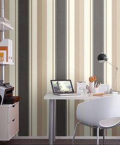 Striped walls in office