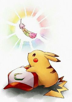 The Ho-oh feather Pichu Pikachu Raichu, Cute Pikachu, Cute Pokemon, Gen 1 Pokemon, Pokemon Eevee, Pokemon Fan Art, Pokemon Go Images, Pokemon Pictures, Pokemon Movies