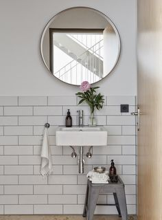 Style and Create — Great bathroom inspiration in a relaxing loft space by German design duo Studio OINK Bathroom Renos, Laundry In Bathroom, Bathroom Interior, Small Bathroom, Small Sink, Minimal Bathroom, Bathroom Ideas, Bathroom Mirrors, Downstairs Bathroom