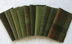 Mary Flanagan Textured Felted Wool Bundles: Pine Forest. $28.50, via Etsy.