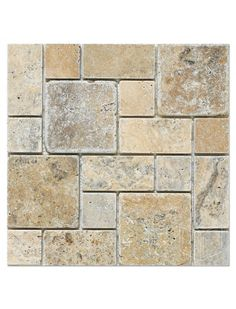 Philadelphia Scabos Travertine Roman Pattern Tumbled Mesh Mounted Mosaic Tile