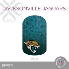 Get gameday style with this Jacksonville Jaguars glossy wrap from the NFL x Jamberry Collection. 2 manis & 2 pedis PER SHEET! https://angiebullock.jamberry.com/us/en/shop/products/jacksonville-jaguars