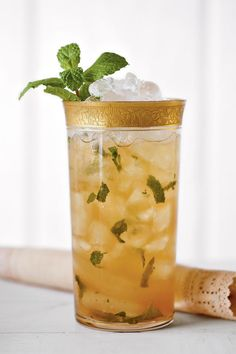 This iced cocktail features the best of two classic Southern drinks: the mint julep and sweet tea. For best results, sip in a rocking chair on a front porch somewhere.  Recipe: Mint Julep Sweet Tea
