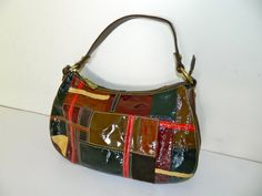 Vintage Fossil Patchwork Satchel Handbag Purse by AbsoluteUsed, $19.99