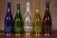 Cinco Color Laser grabado botella de vino por BottlesUncorked