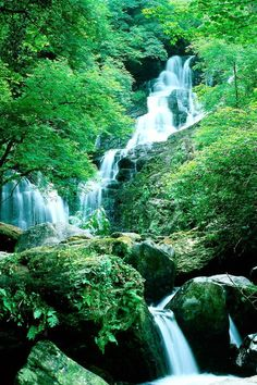 Dark Fey Fantasy Landscapes . . Veryn Falls in Hwyndarin