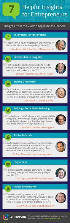 7 Helpful Insights for Entrepreneurs