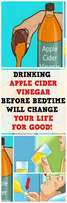 DRINKING APPLE CIDER VINEGAR BEFORE BEDTIME WILL CHANGE YOUR LIFE FOR GOOD..!